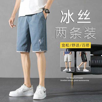 73955/短裤男2021夏季新品男士宽松薄款短裤纯色休闲运动ins五分裤子男