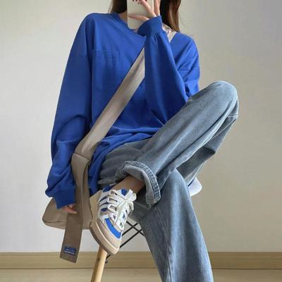 65489/秋季新款可盐可甜酷女孩穿搭学院风洋气减龄卫衣牛仔裤两件套装潮【8月30日发完】