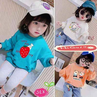 【棉】女童洋气卫衣春秋装新款韩版儿童长袖男宝宝中小童薄款上衣