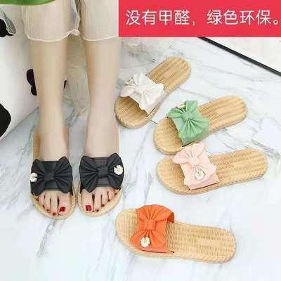 62795/室内外防滑拖鞋女夏日系纯色外穿居家室内防滑浴室软底凉拖鞋
