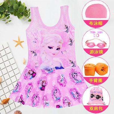 55548/女童连体泳衣新款裙式可爱宝宝小公主泳衣儿童泳装大码学生沙滩装