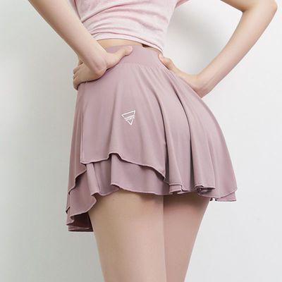 74793/运动短裙宽松防走光速干半身裙裤跑步健身网球羽毛球瑜伽裙假两件