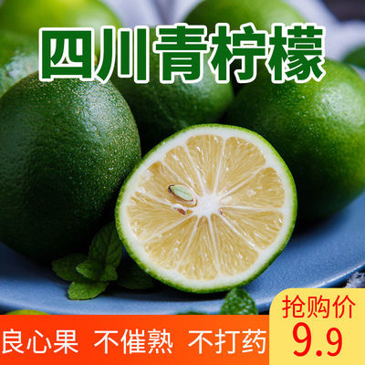 四川青柠檬当季水果新鲜柠檬肉厚多汁酸爽泡水青皮柠檬整箱包邮