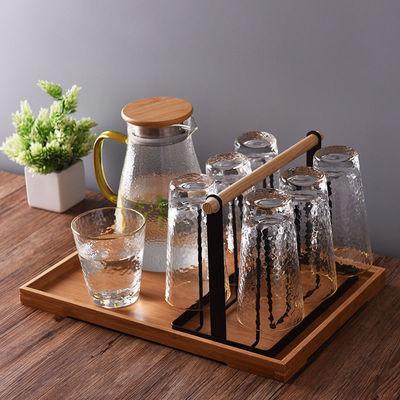 客厅茶杯架挂架家用杯子置物架子创意水杯倒挂沥水架铁艺收纳托盘