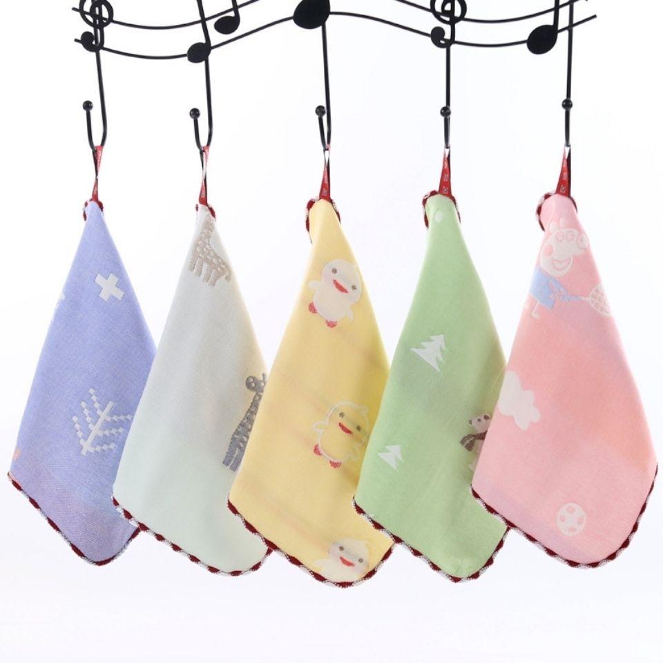 纱布方巾六层纱布新生儿口水巾洗脸小毛巾幼儿园宝宝餐巾婴儿洗澡