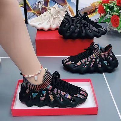 男女同款2021夏季新款八爪鱼飞织椰子鞋学生透气运动鞋袜子鞋【8月20日发完】