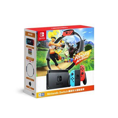 拼多多百亿补贴:Nintendo 任天堂 Switch+《健身环大冒险》 游戏机套装 红蓝2099元