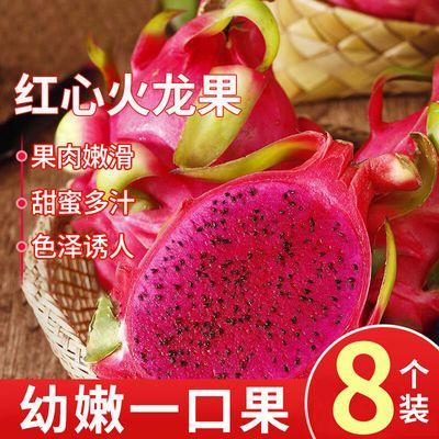 现摘红心火龙果超甜新鲜应季热带水果红心火龙果批发整箱2斤5斤