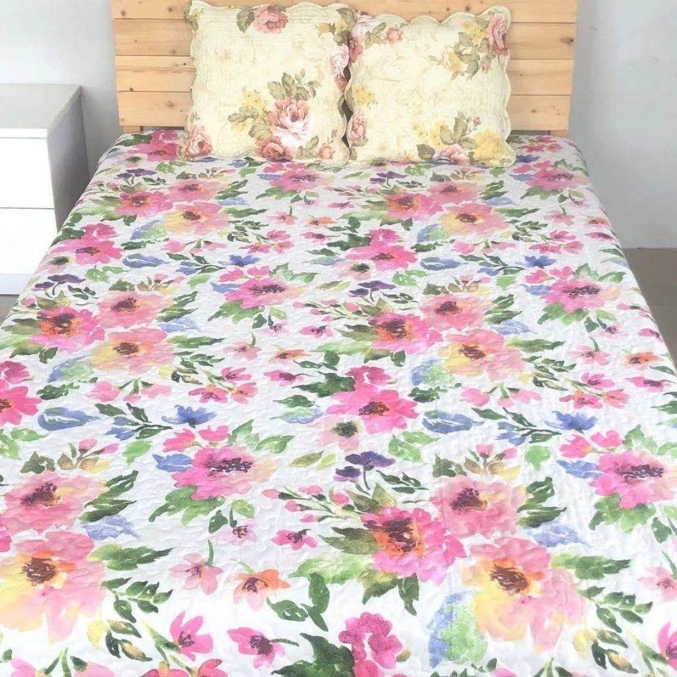 特价绗缝被外贸尾单床盖空调被多用途床单夹棉床垫褥子沙发垫炕罩