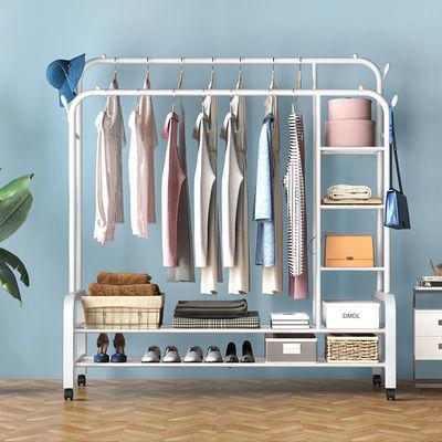 晾衣架落地臥室內單桿涼曬掛衣架家用折疊晾衣桿陽臺簡易衣服架子