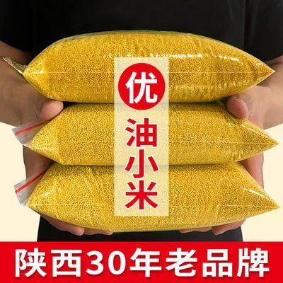 57877/黄小米新米5斤五谷杂粮米陕北米脂油小米粥农家糯小米1斤装小黄米