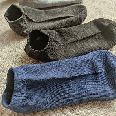 (特价)袜子男士夏季薄款袜子浅口防臭吸汗透气船袜短筒袜纯色