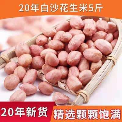 75113/20年新货花生米特价无壳白沙花生米新鲜粉红皮生花生批发250g5斤