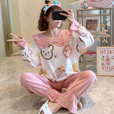 70472/睡衣女春秋冬季韩版2021甜美公主风套装女士大码学生家居服可外穿