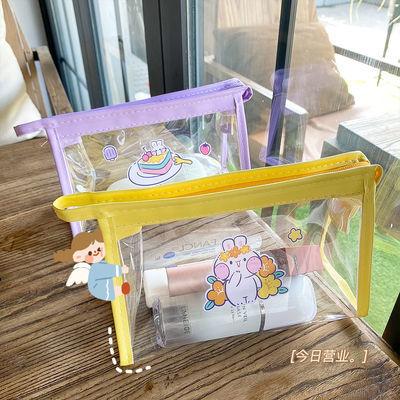 化妆袋ins化妆包大容量收纳袋韩版日系学生简约可爱笔袋小学初中