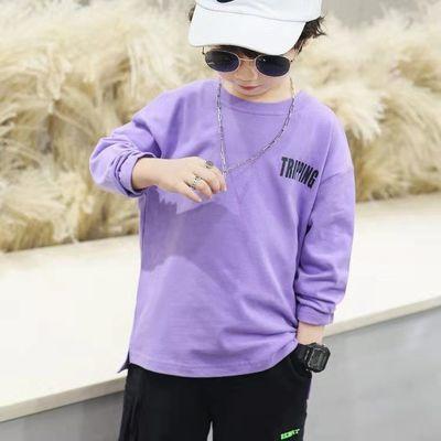 童装男童套装卫衣新款套头春秋款T恤圆领中大儿童打底衫男孩衣服
