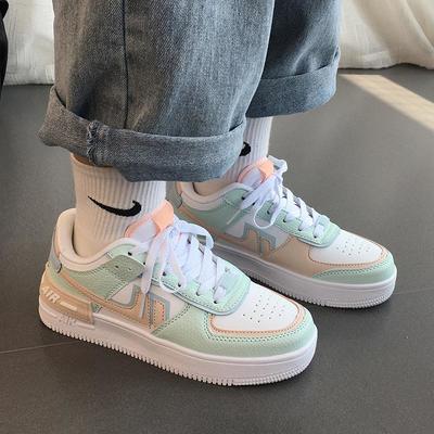 空军一号板鞋运动鞋女鞋子2021新款夏季透气薄款百搭小白鞋ins潮【10月19日发完】