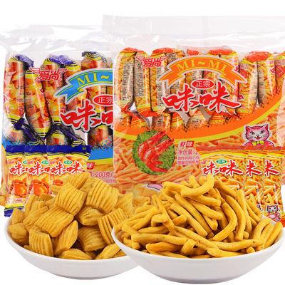 爱尚咪咪虾条蟹味粒膨化网红怀旧童年好吃的休闲食品零食大礼包