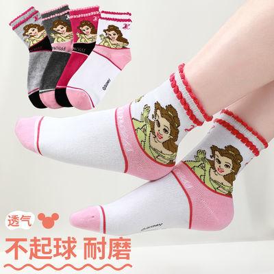 袜子女韩版中筒儿童袜子夏季居家小学生纯棉薄款透气女孩可爱卡通