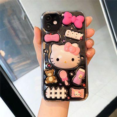 73360/可爱hello kitty苹果12pro xsmax凯蒂猫iPhone11手机壳7 8p软XR女