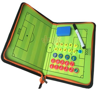 57573/正品足球战术板教练示教板折叠带拉链磁性战术盘