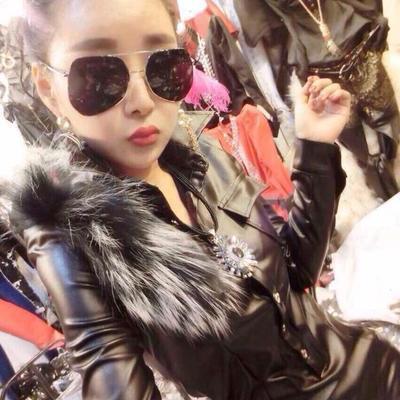 67925/【厂家直销】秋冬新款休闲女王范帅气pu皮衣皮裤两件套套装潮