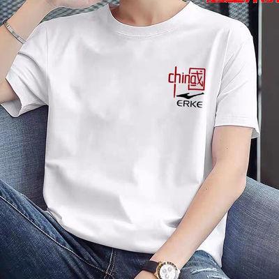 2021新款国潮纯棉圆领短袖男女同款学生休闲运动T恤