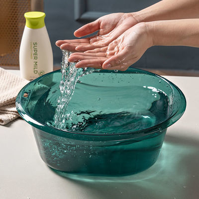 加厚透明洗脸盆家用塑料洗衣盆子学生宿舍可爱面盆大小号洗手盆