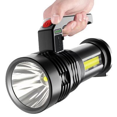 led强光可充电手电筒家用应急多功能探照灯超亮户外远射超长续航