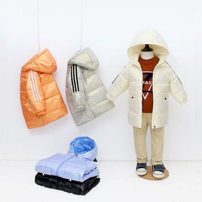 57760/新款儿童羽绒服中长款男女童白鸭绒外套加厚保暖亮面免洗连帽童装