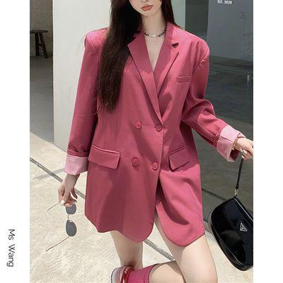 66629/炸街西装外套女休闲洋气高级感宽松长袖西服小西装设计感春秋款潮