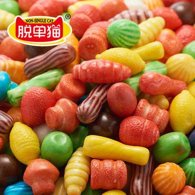 57712/造型糖果西瓜泡泡糖批发300克/75颗瓶装去口臭糖口香糖怀旧小零食