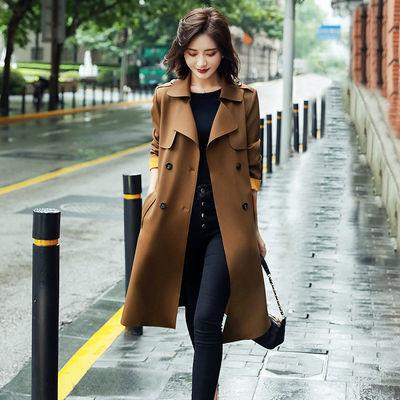 75100/女式高档风衣女中长款英伦风大衣2021春秋装新款韩版气质洋气外套