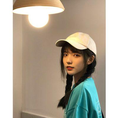 78696/软顶鸭舌帽女纯色全棉男新款韩版百搭显脸小日系风学生水洗棒球帽