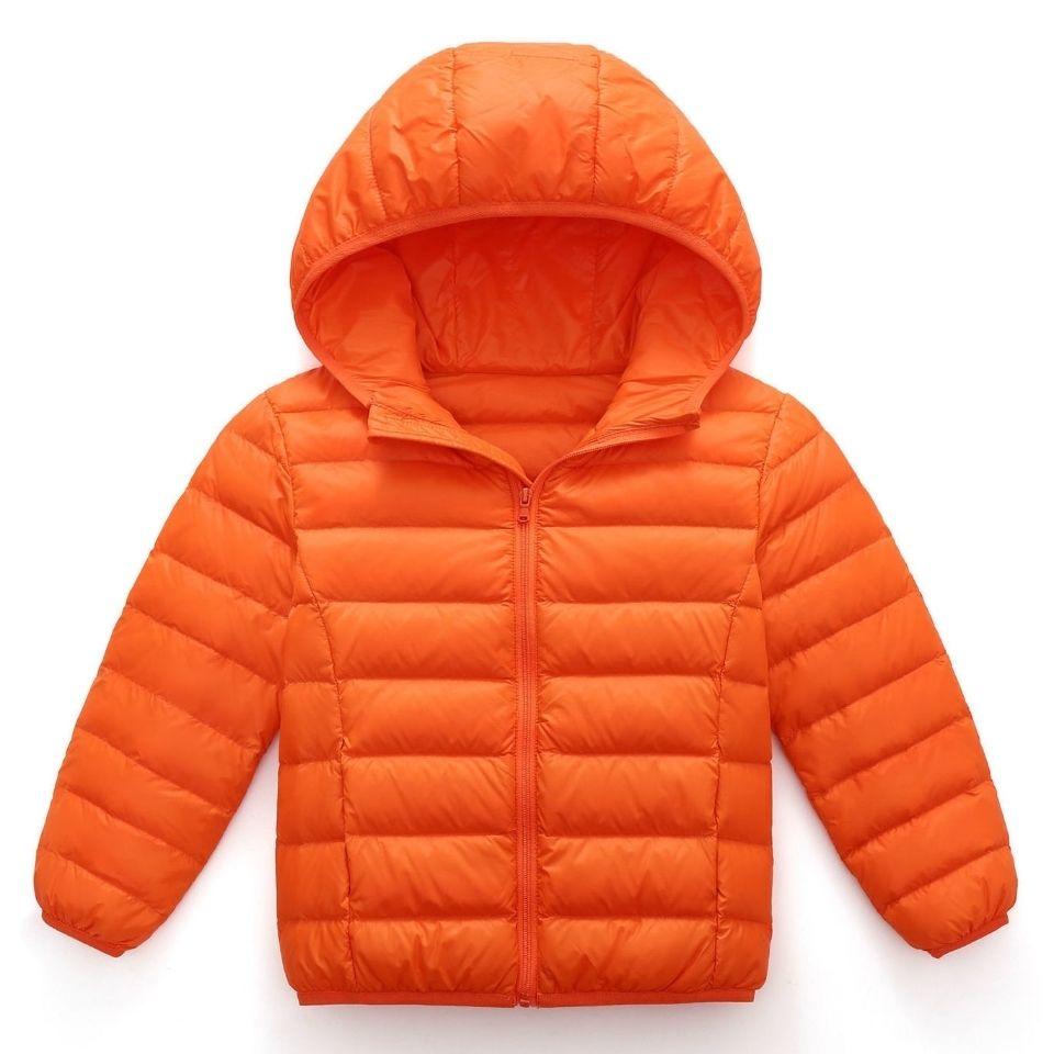 88556-21新款白鸭绒儿童羽绒服男童女童中大童轻薄款宝宝连帽外套亲子装-详情图