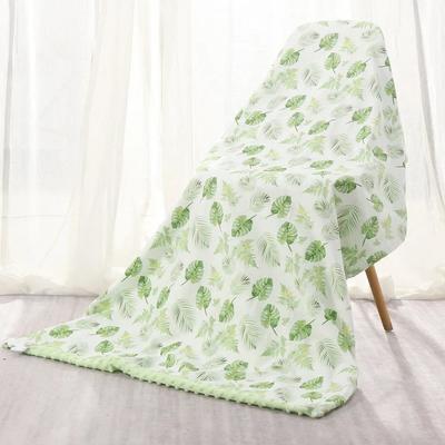 65635/婴儿豆豆毯安抚双层春秋夏季薄儿童毛毯空调毯新生宝宝盖毯空调毯