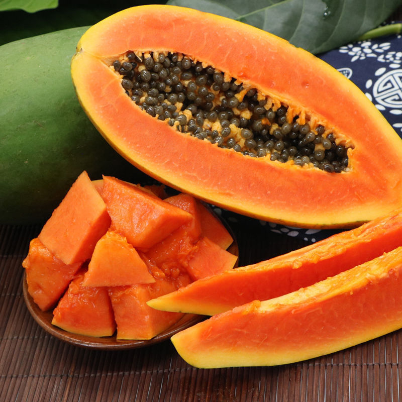 57703-红心木瓜水果新鲜应季大青冰糖牛奶木瓜5斤10斤整箱批发包邮-详情图