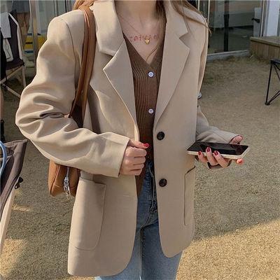 63369/西装外套女2021年秋季新款网红爆款韩版时尚气质英伦风小西服上衣