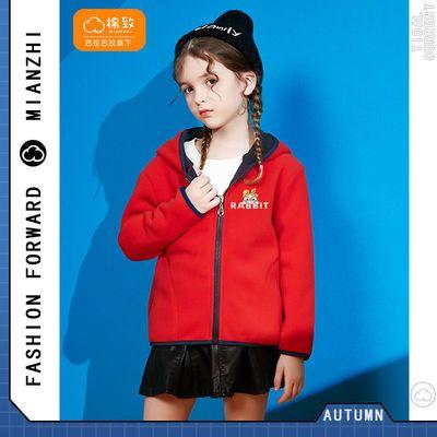 巴拉巴拉旗下棉致儿童外套秋冬洋气2021女童连帽摇粒绒外套上衣潮