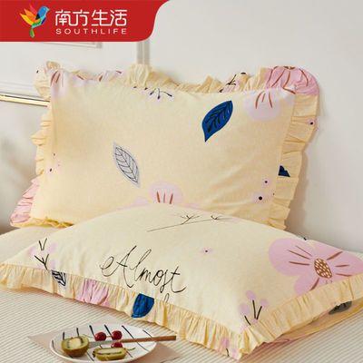 南方生活100%纯棉枕套可机洗枕头套成人单双人枕用枕芯套
