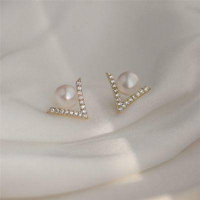新款925银针长款星星耳环猫眼石耳坠韩国气质网红会动的耳钉