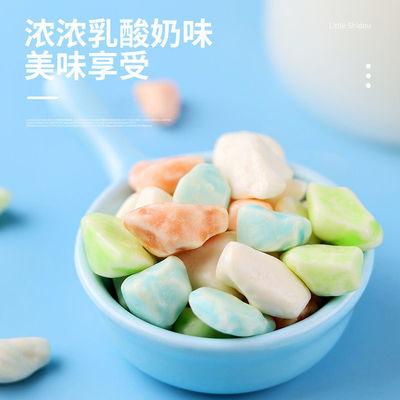 75878/网红石头糖批发儿时怀旧小零食巧克力味多彩奶糖办公休闲食品