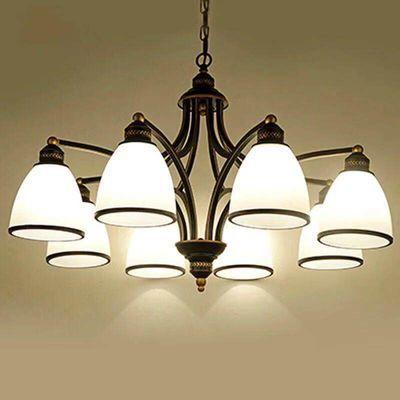 led美式吊灯客厅灯现代简欧卧室餐厅灯乡村北欧复古铁艺灯饰灯具