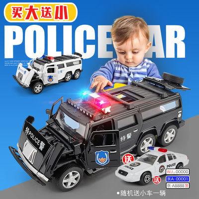 悍马警车玩具小汽车模型仿真合金开门救护车玩具小男孩儿童玩具车