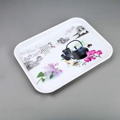 用水杯茶盘托盘餐具盘水果盘蛋糕盘用餐盘长方形密胺托盘欧式家【3月14日发完】