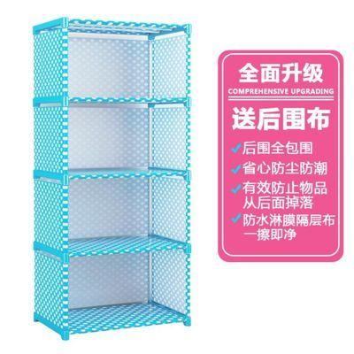 书架简易落地置物架加固书柜办公室收纳布艺儿童布料帆布韩式拼接