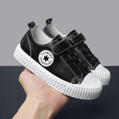 真皮板鞋春季儿童鞋学生演出女童表演白色街舞蹈男童鞋潮小白鞋子