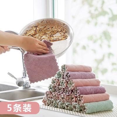 双面加厚家用清洁毛巾洗碗布不沾油厨房专用抹布吸水不掉毛无水印
