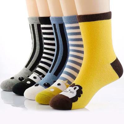 2019春秋季儿童中筒袜二条杠运动袜纯棉线条童袜男童女童宝宝袜子