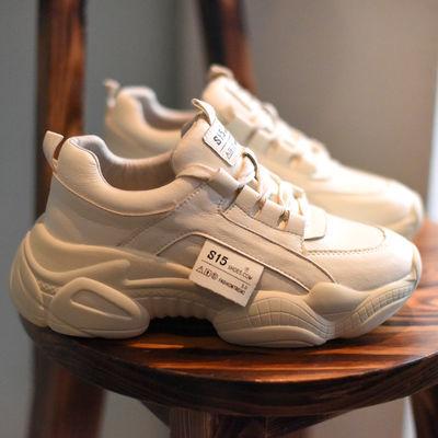 2020春季新款网面透气小白鞋鞋子女学生韩版百搭运动鞋ins老爹鞋
